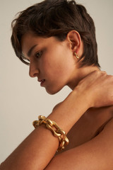 Oroton Eloise Small Huggies in Worn Gold and Brass Base Metal With Worn Gold Finish for female