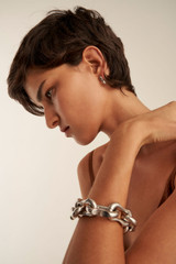 Oroton Eloise Bracelet in Worn Silver and Brass Base Metal With Worn Silver Finished for female