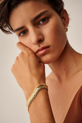 Oroton Jolie Mini Hoops in Gold and Brass Base Metal With Precious Metal Plating for female
