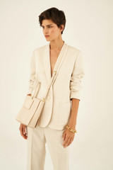 Oroton Maple Bucket in Bone and Pebble Leather for female