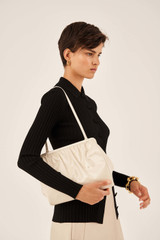 Oroton Celia Patent Day Clutch in French Vanilla and Patent Leather for female