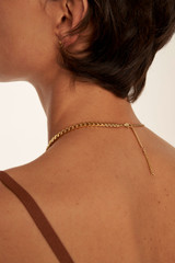 Oroton Felix Necklace in Worn Gold and Brass Base Metal With Precious Metal Plating for female