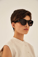 Oroton Charlie Sunglasses in Black and Acetate for female