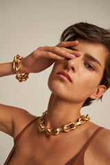 Oroton Eloise Bracelet in Worn Gold and Brass Base Metal With Worn Gold Finished for female
