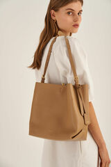 Oroton Margot Hobo in Sahara and Pebble Leather for female