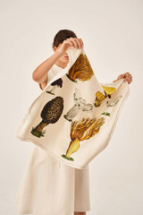 Oroton Mushroom Scarf in Prints and 100% Silk for female