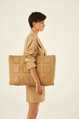 Oroton Maple XL Tote in Sahara and Pebble Leather for female