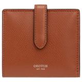 Oroton Muse 9 Credit Card Wallet in Cognac and Saffiano / Smooth for female