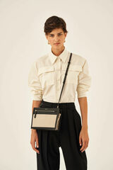 Oroton Oroton X Hemp Black Crossbody in Natural and Body material: 100% Hemp canvas fabric with Faux Leather Hemp Black infused trims, with anti-bacterial technology for female