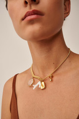 Oroton Sophie Necklace in Worn Gold and Brass Base Metal With Precious Metal Plating/Resin/Glass for female