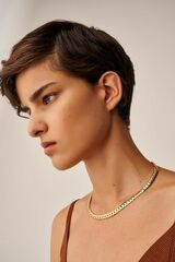 Oroton Peyton 6MM Herringbone Chain in Gold and Brass Base Metal With Precious Metal Plating for female