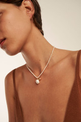 Oroton Olenna Necklace in Gold/Pearl and Brass Base Metal With Freshwater Pearls for female