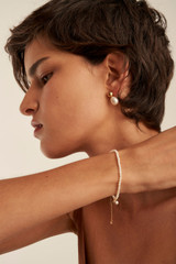 Oroton Olenna Studs in Gold/Pearl and Brass Base Metal With Freshwater Pearls for female