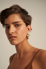 Oroton Noa Earrings in Worn Gold and Brass Base Metal With Worn Gold Finished for female