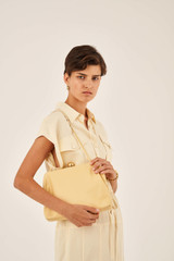 Oroton Nova Day Bag in Butter and Smooth Leather for female