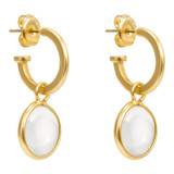 Oroton Sophie Magnified Glass Hoops in Worn Gold/Clear and Brass Base Metal With Precious Metal Plating/Glass for female