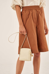 Oroton Willow Square Crossbody in Vanilla and Smooth Leather for female