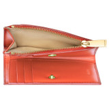 Oroton Willow Mini 10 Credit Card Wallet in Poppy and Smooth Leather for female
