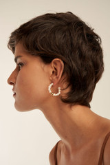 Oroton Olenna Hoops in Gold/Pearl and Brass Base Metal With Freshwater Pearls for female