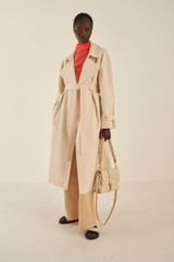 Oroton Trench With Scarf in Powder and 77% Cotton 23% Linen for female