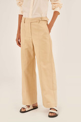 Oroton Drill Utility Pant in Pancake and 100% Cotton for female