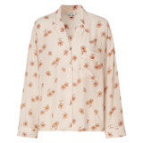 Oroton Meadow Print Shirt in Powder and 100% Silk for female