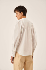 Oroton Cotton Tucked Shirt in Natural White and 100% Cotton for female