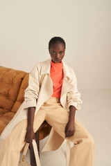 Oroton Soft Silk Blouse in Soft Rouge and 100% Silk for female