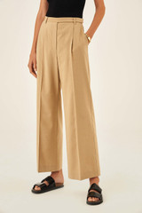Oroton Full Length Pant in Deep Wheat and 81% Viscose 17% Cotton 2% Elastane for female