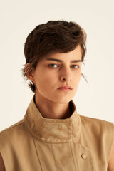 Oroton Sleeveless Trench in Deep Wheat and 77% Cotton 23% Linen for female