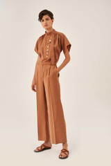Oroton Full Length Pant in Hazel and 15% Polyester, 85% Modal for female