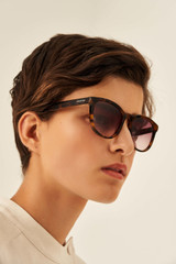 Oroton Mabel Sunglasses in Tort and Acetate for female