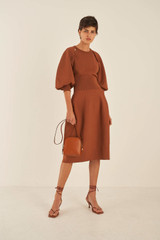 Oroton Knit Dress in Cognac and 83% Viscose 17% Nylon for female