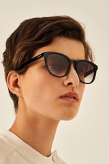 Oroton Mabel Sunglasses in Black and Acetate for female