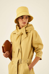 Oroton Trench with Scarf in Saffron and 77% Cotton 23% Linen for female