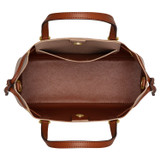 Oroton Harriet Mini Tote in Praline and Saffiano Leather With Smooth Leather Trim for female