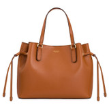 Oroton Harriet Mini Tote in Cognac and Saffiano Leather With Smooth Leather Trim for female