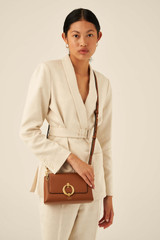 Oroton Alexa Crossbody in Cognac and Nappa Leather for female