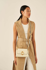 Oroton Alexa Crossbody in Parchment and Nappa Leather for female