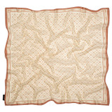 Oroton Elsie Scarf in Cognac/Biscotti and 69% Cotton, 31% Silk for female