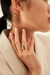 Oroton Fiona Ring Stack in Gold and null for female