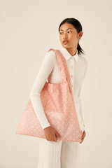 Oroton Elsie Packable Tote in Primrose/Cream and Printed Fabric for female