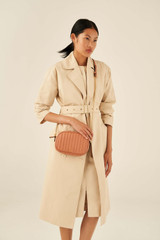 Oroton Fay Zip Crossbody in Terracotta and Smooth Leather for female