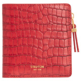 Oroton Mezzo Mini Wallet And Earring Set in Candy Apple Red and Wallet: Texture Emboss Leather, Earrings: Brass Base Metal With Precious Metal Plating for female