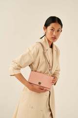 Oroton Mezzo Clutch in Primrose and Texture Emboss Leather for female