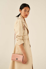 Oroton Mezzo Small Clutch in Primrose and Texture Emboss Leather for female