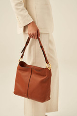 Oroton Tessa Hobo in Toffee and Soft Pebble Leather for female