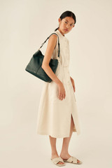 Oroton Tessa Hobo in Pine Green and Soft Pebble Leather for female