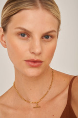 Oroton Inez Vintage Chain Necklace in Gold and null for female