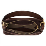 Oroton Byron Small Hobo in Maple and Pebble Leather for female